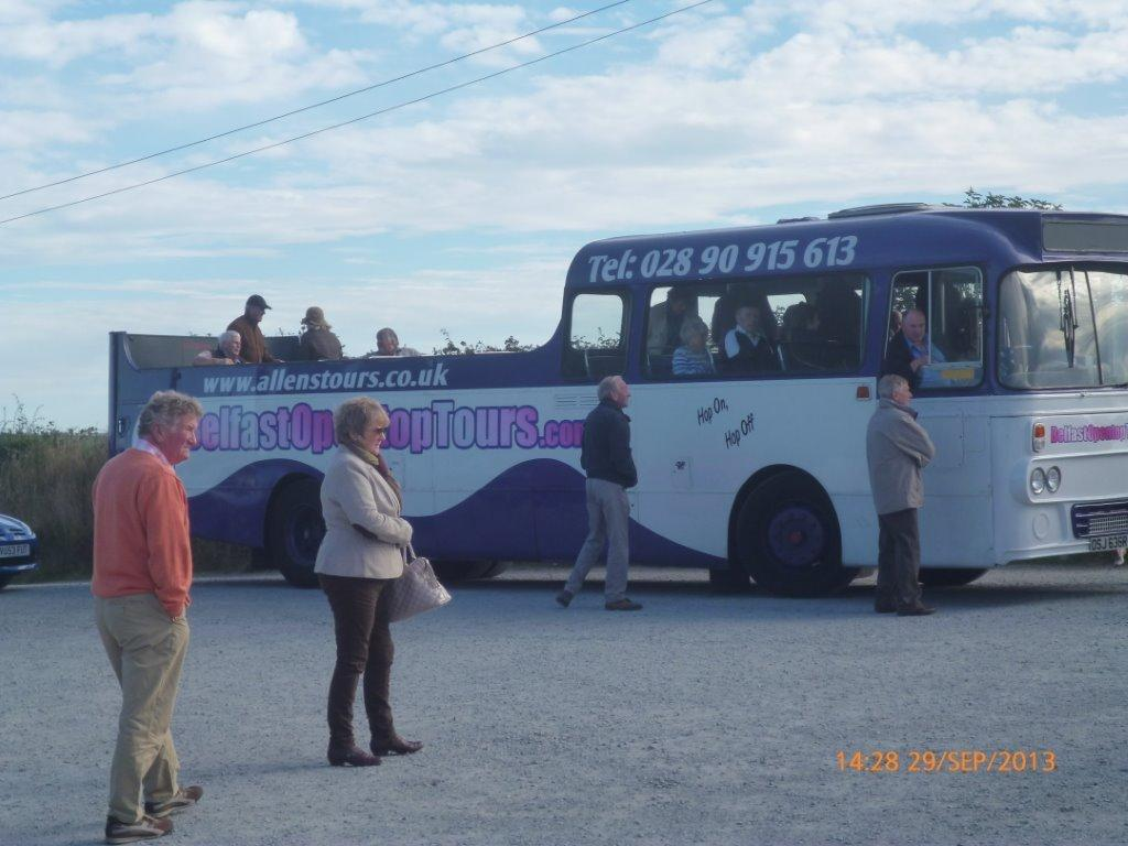 Members boarding the coach for a short run during the Final run o fteh season 2013 ar