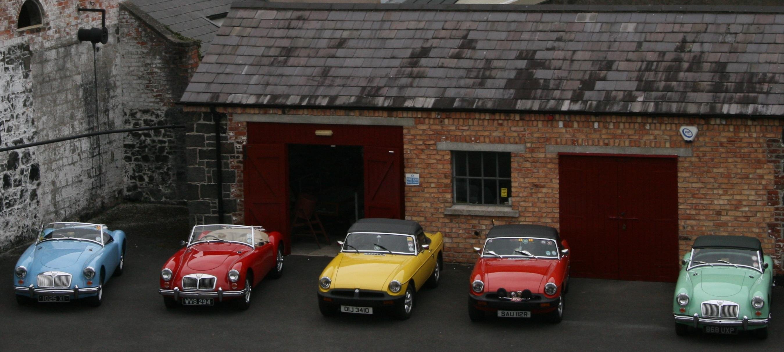 Cars parked at the Flame museum on heritage day 2014.