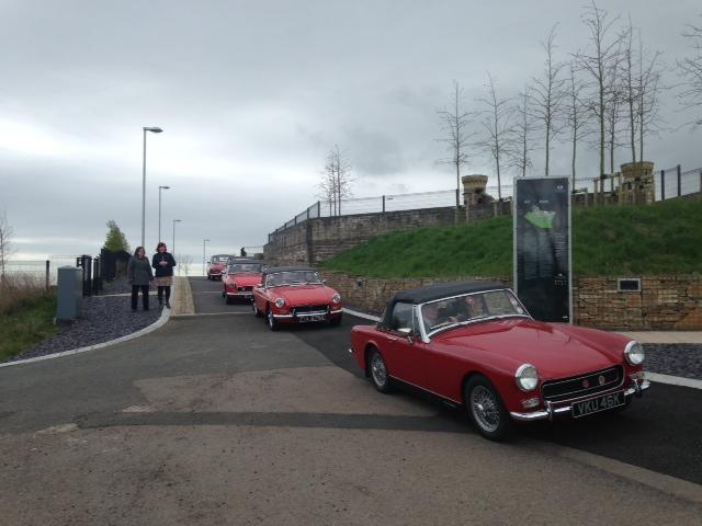 Cars arriving at the Hill Dungannon Run sc