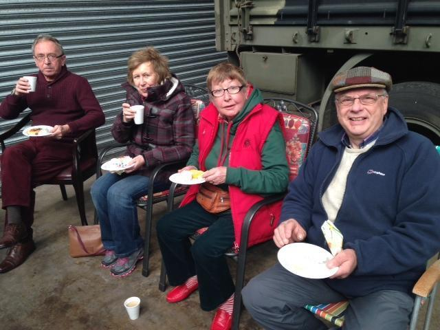 Members enjoying a cuppa rs