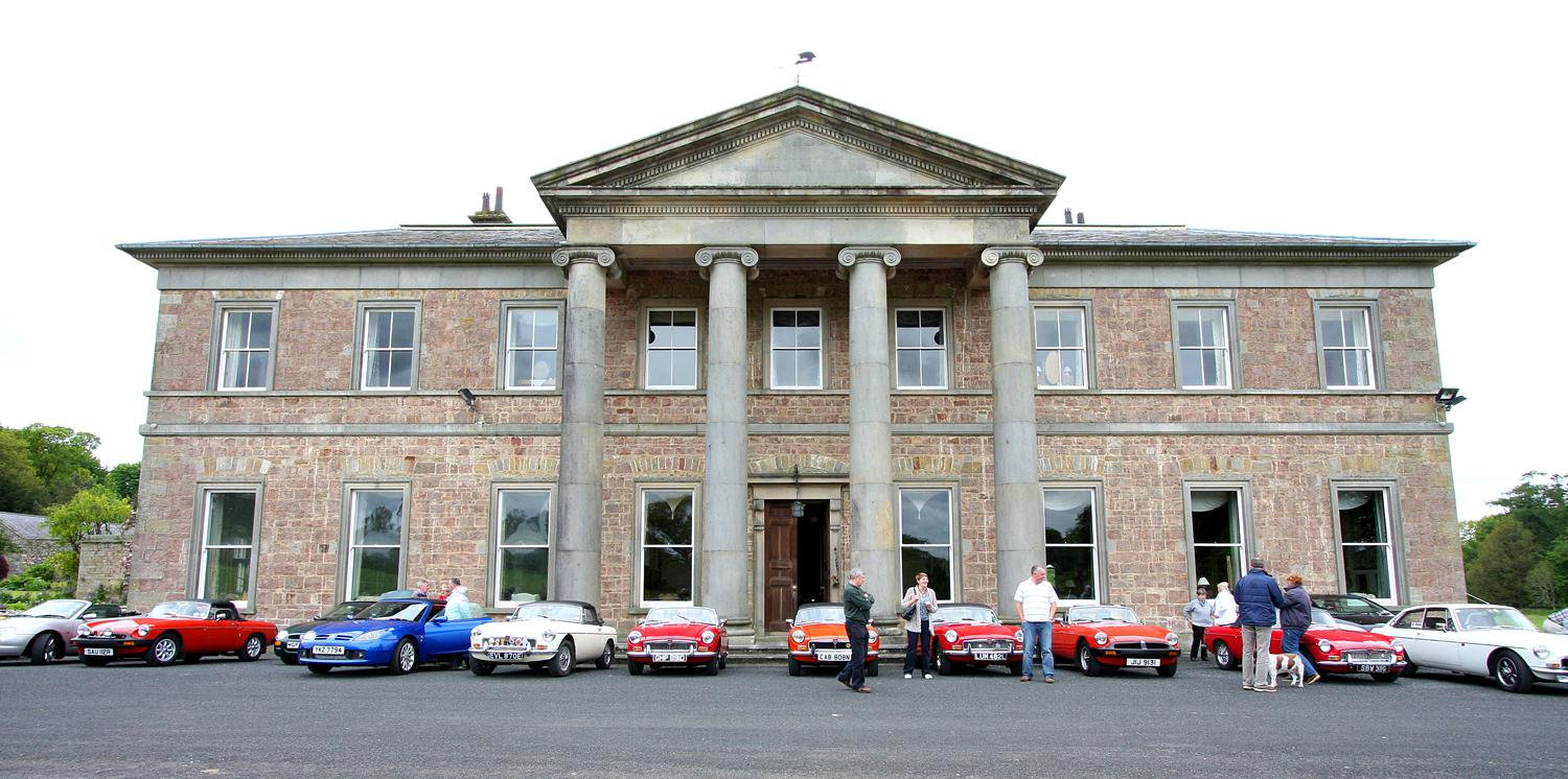 Cars at Colebrooke House during the Omagh Run pf 4