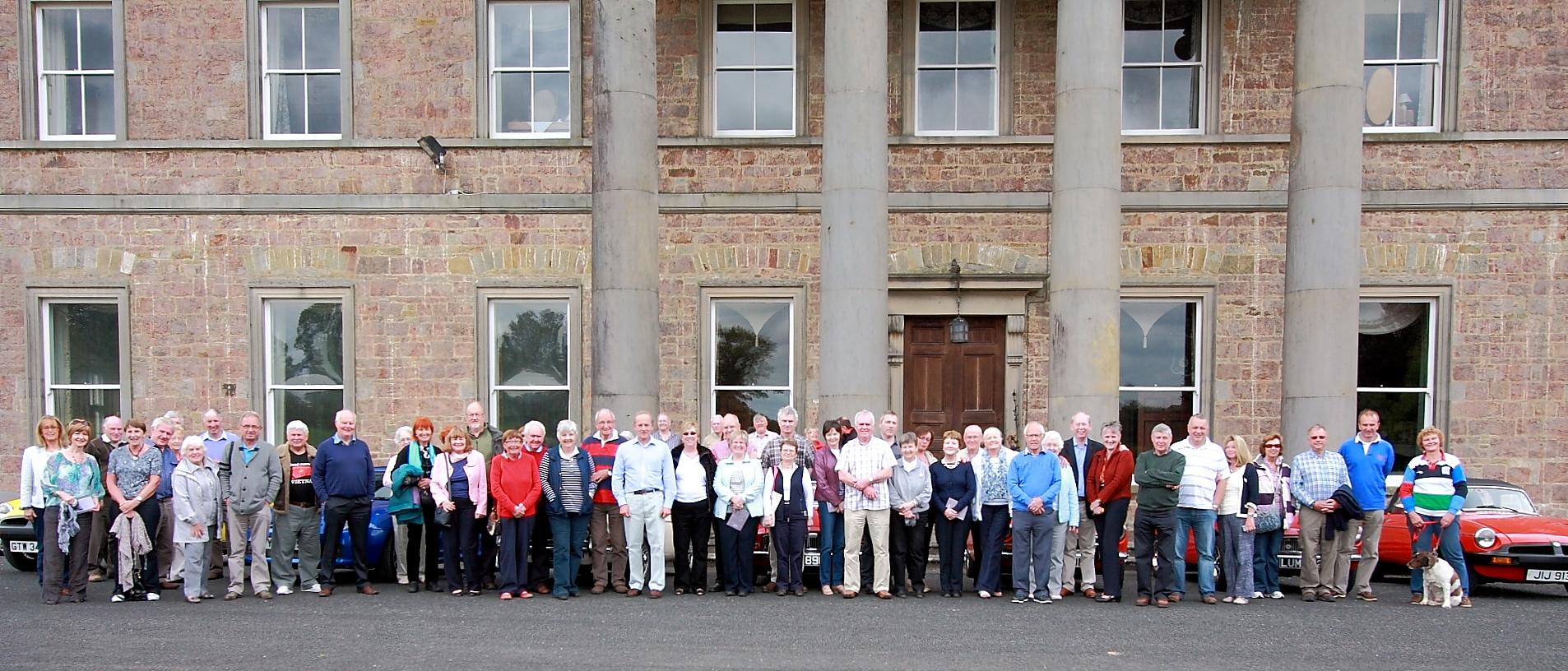 Members at Colebrooke house during the Omagh Run pf 5