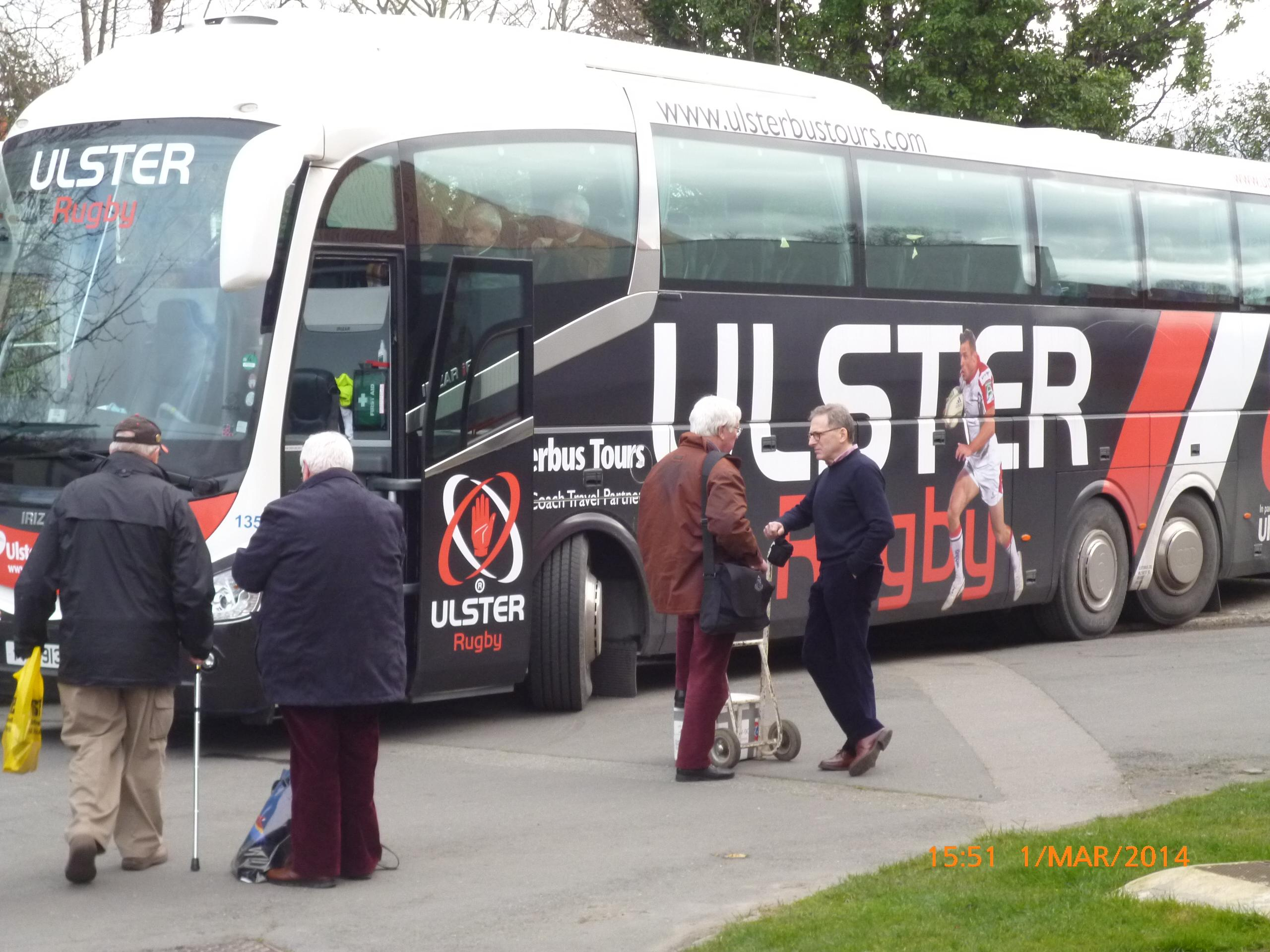 MG Members coach in Ulster Rugby coach AR